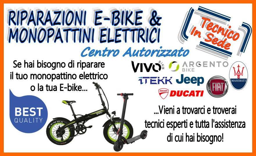 Riparazioni e-bike e monopattini